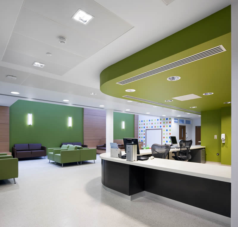 Hospital interiors designing hospitals interiors works for Home design services