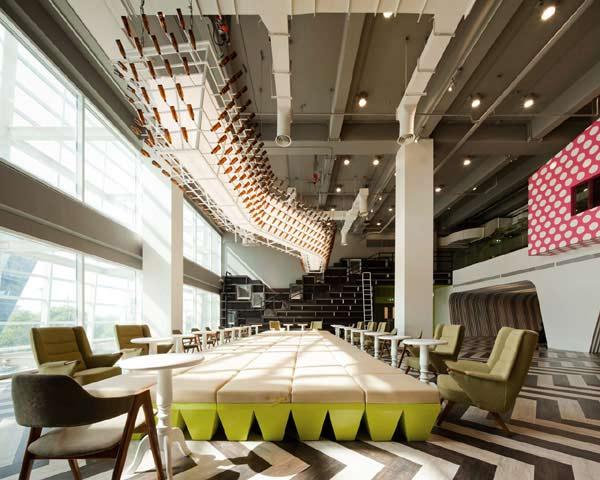 Interior Designing For University School College Lounge Gurgaon